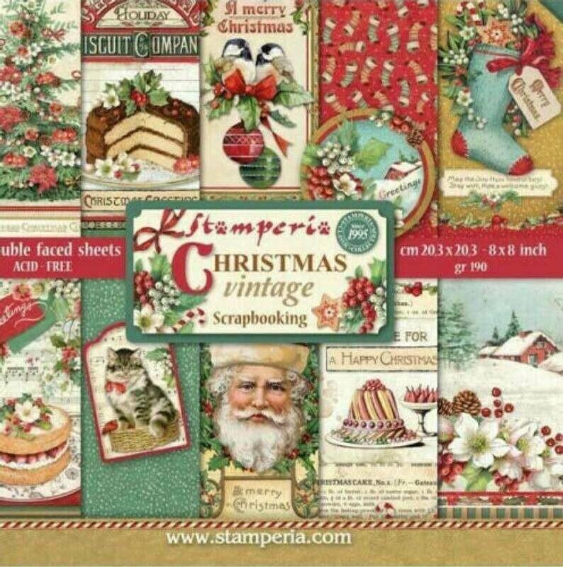 Stamperia Christmas Vintage - 8 x 8 Paper Pad