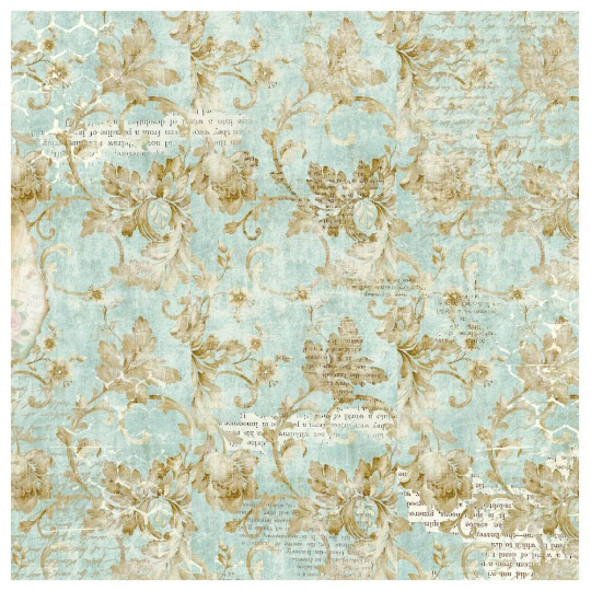 Wonderland Floral and Writings - Napkin - Stamperia Rice Paper Napkin