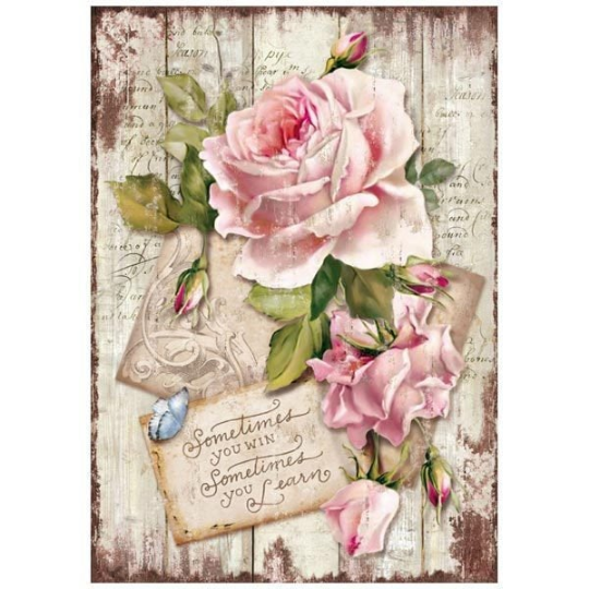 Sweet Time Rose - A4 -Stamperia Rice Paper