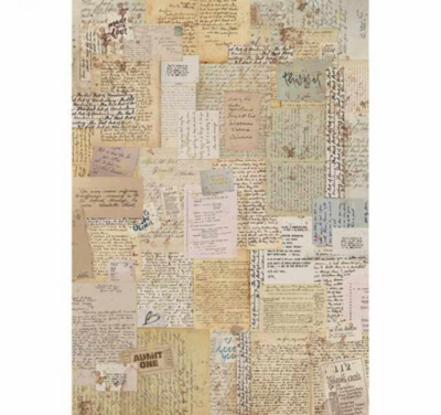 Background Notes - A4 -Stamperia Rice Paper