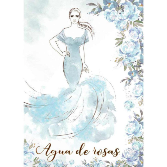 Agua De Rosas  - Silhouette Art Napkin - Stamperia Rice Paper Napkin