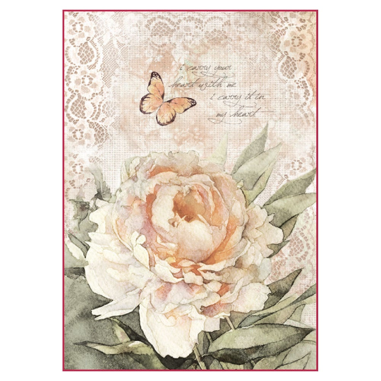 Vintage Rose and Laces - A4 -Stamperia Rice Paper