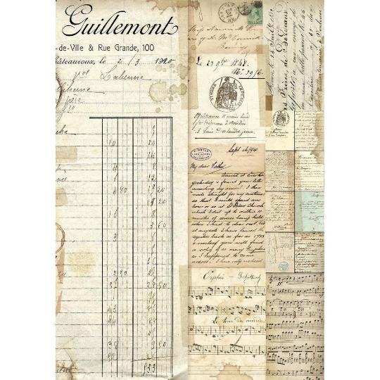 Manuscripts - A4 -Stamperia Rice Paper
