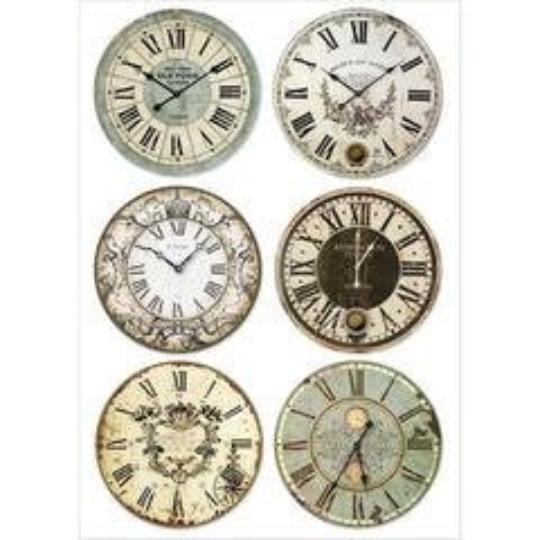Clocks - A4 -Stamperia Rice Paper