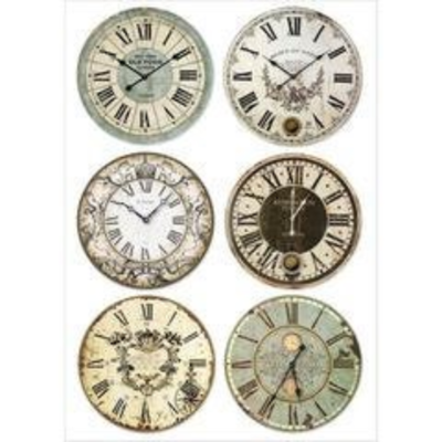 Clocks - A4 -Stamperia Rice Paper