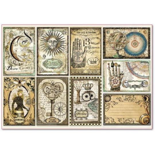 Alchemy Cards - XL Stamperia Rice Paper