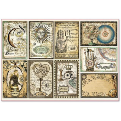 Alchemy Cards - XL Stamperia Rice Paper