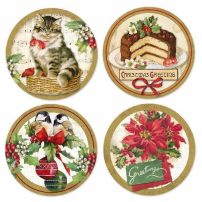 Christmas Vintage Adhesive Paper - Stamperia Adhesives