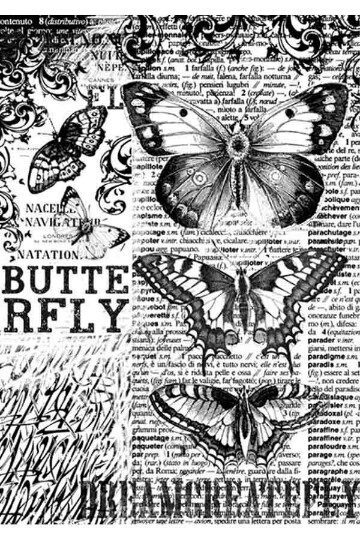 Butterfly - A4 -Stamperia Rice Paper