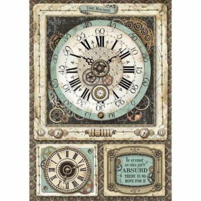 Voyages Fantastiques Clock - A4 -Stamperia Rice Paper