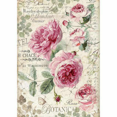 English Roses - A4 -Stamperia Rice Paper