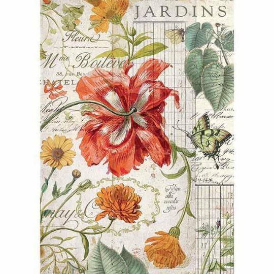 Jardins - A4 -Stamperia Rice Paper