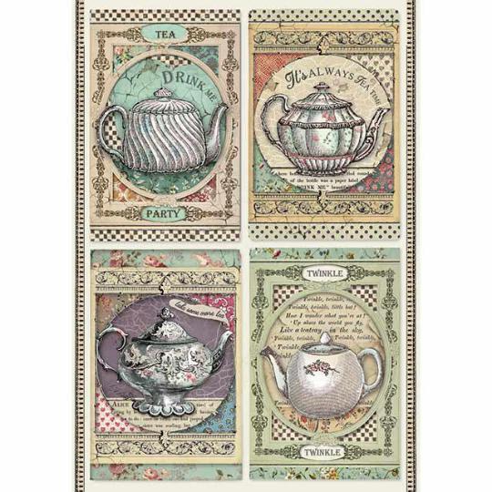 Tea Time - A4 -Stamperia Rice Paper