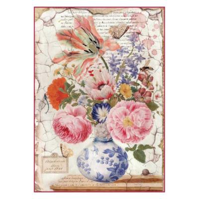 Vintage Vase - A4 -Stamperia Rice Paper