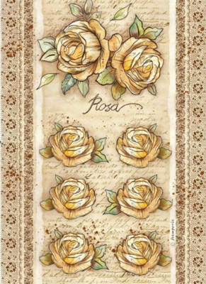 Roses And Flowers by Donatella Rose - A4 -Stamperia Rice Paper