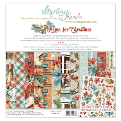 Mintay by Karola - Home For Christmas - 12 x 12 Collection Pack