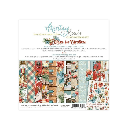 Mintay by Karola - Home For Christmas - 6 x 6 Collection Pack