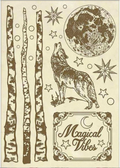 Cosmos Wolf - Wooden Frames -Stamperia Wooden Frames