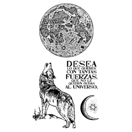 Cosmos Wolf - HD Rubber Stamp -Stamperia Stamps