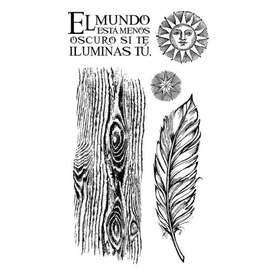 Cosmos Feather - HD Rubber Stamp -Stamperia Stamps