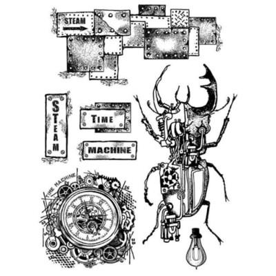 Time Machine - Mixed Media Stamp -Stamperia