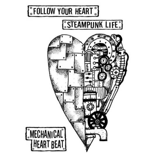 Mechanical Heart - Mixed Media Stamp -Stamperia