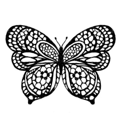 Butterfly - Acrylic Stamp -Stamperia Stamps