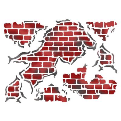 Wall Glimpse - Stencil D -Stamperia