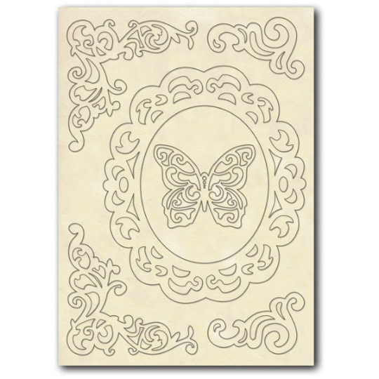 Frame, Corners and Butterfly - Wooden Frames -Stamperia Wooden Frames