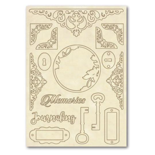 Keys and Corners - Wooden Frames -Stamperia Wooden Frames