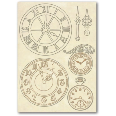 Clocks - Wooden Frames -Stamperia Wooden Frames