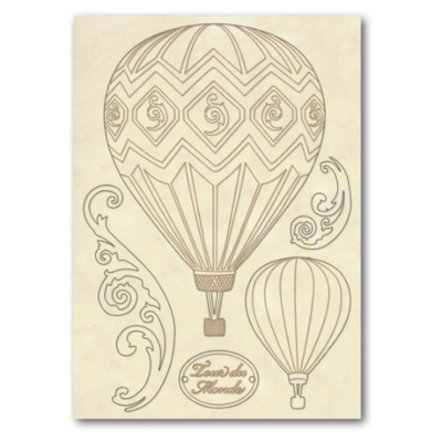 Hot Air Balloons - Wooden Frames -Stamperia Wooden Frames
