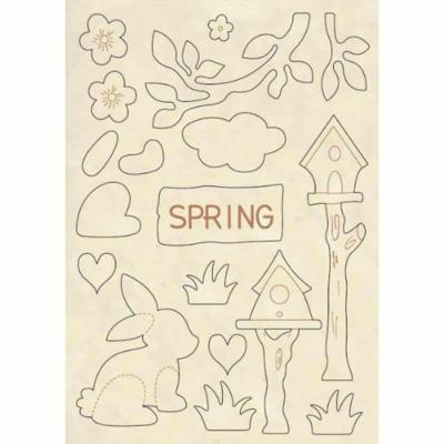 Spring - Wooden Frames -Stamperia Wooden Frames