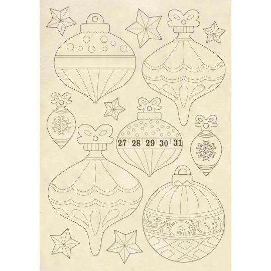 Christmas Balls - Wooden Frames -Stamperia Wooden Frames