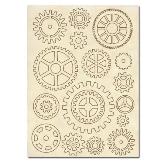 Gears - Wooden Frames -Stamperia Wooden Frames