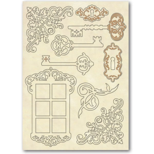 Keys and Window - Wooden Frames -Stamperia Wooden Frames