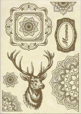 Cosmos Deer - Wooden Frames -Stamperia Wooden Frames