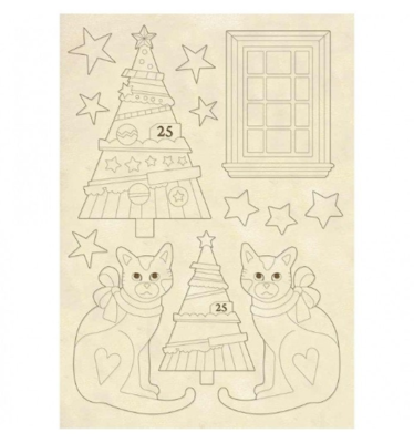 Trees & Cats - Wooden Frames -Stamperia Wooden Frames