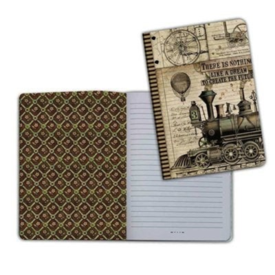 Voyages Fantastiques Train - A5 Notebook - Stamperia