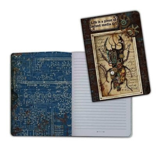 Mechanical Fantasy 2 (Beetle) - A5 Notebook - Stamperia