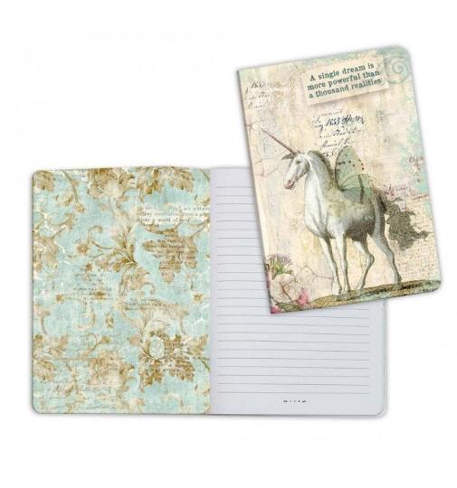 Wonderland Unicorn - A5 Notebook - Stamperia