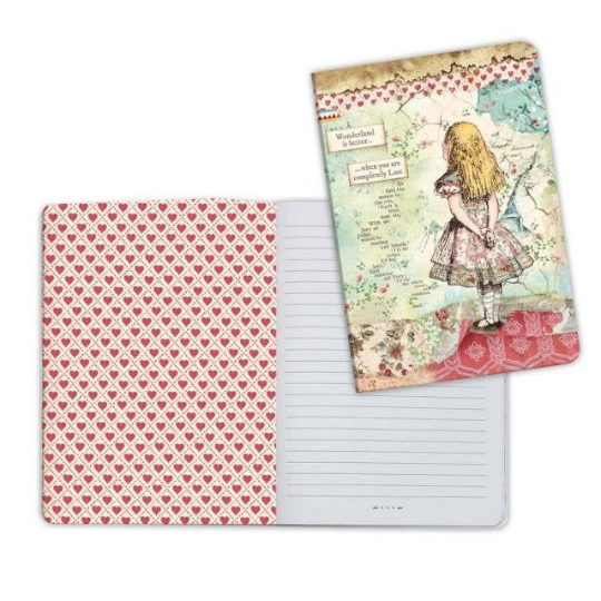 Alice - A5 Notebook - Stamperia