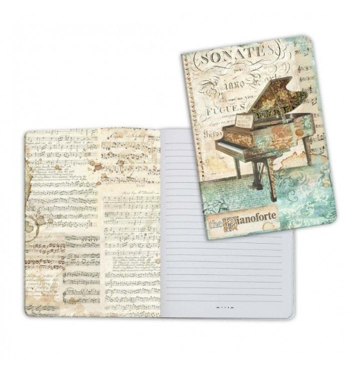 Music Piano - A5 Notebook - Stamperia