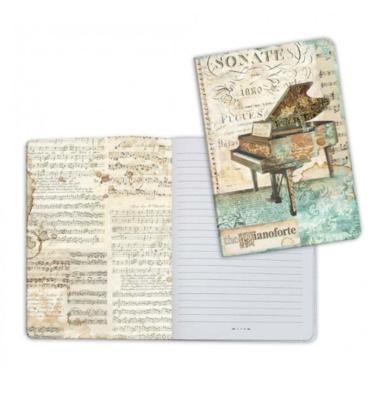 Music Piano - A5 Notebook - Stamperia