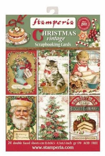 Christmas Vintage - Scrapbooking Cards - Stamperia