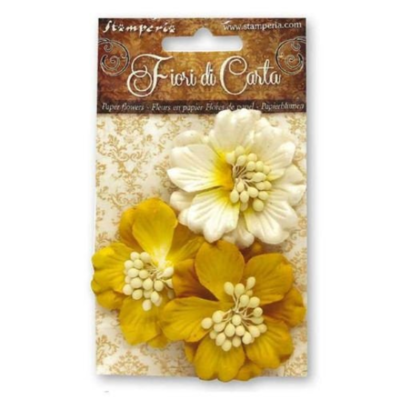 Yellow Gardenia Flowers - Stamperia