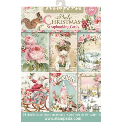 Pink Christmas - Scrapbooking Cards - Stamperia