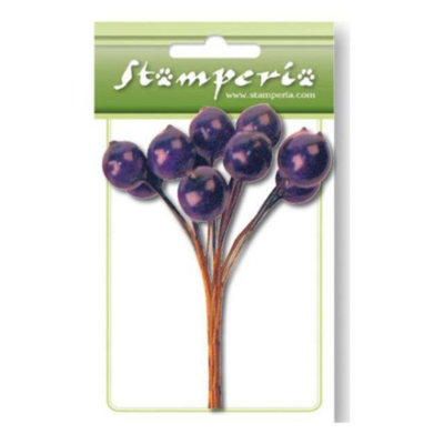 Purple Berries Bouquet - Stamperia