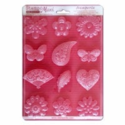 Flowers, Hearts, and Butterflies - Soft Mould - A4 -Stamperia
