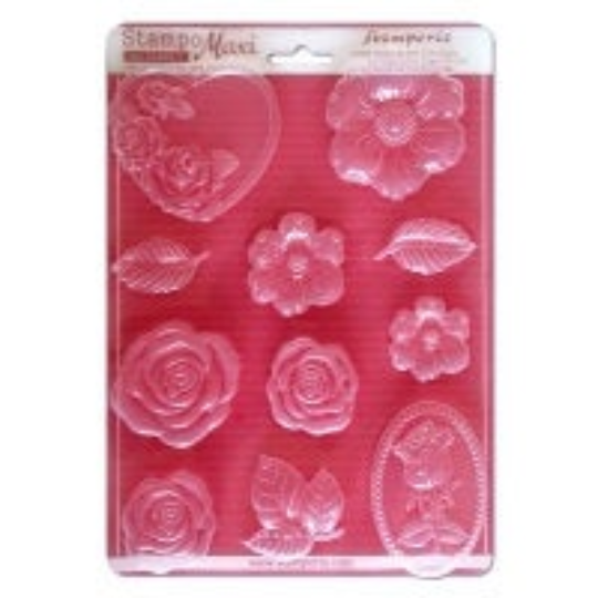 Roses - Soft Mould - A4 -Stamperia